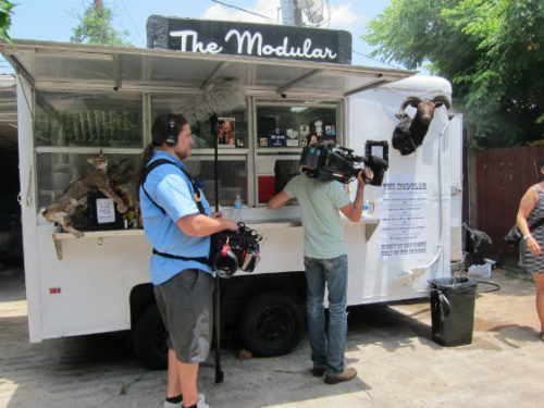 Photo by Katharine Shilcutt Houston hosted Eat St. as it filmed food trucks this past summer.