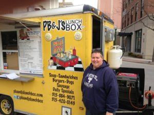 Pat Orr runs the PB & J's food truck, which sets up on Jefferson Street near the Museum of Science and Technology in Armory Square. Don Cazentre / The Post-Standard