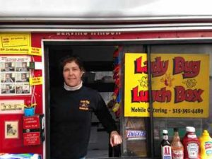 Pam Dwyer, of the Lady Bug Lunch Box on East Fayette Street downtown, is the veteran among local food truck operators. Don Cazentre / The Post-Standard