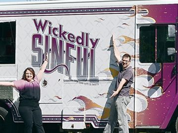 Gourmet truck Michael Barrett Jennifer and Andrew Tedford are owners of Wickedly Sinful, a new kind of mobile food service, offering low carb and low sugar alternatives to traditional fare.