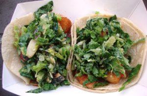 (credit: NYSF) Fish 'N Grapes & Blazin' Shrimp tacos