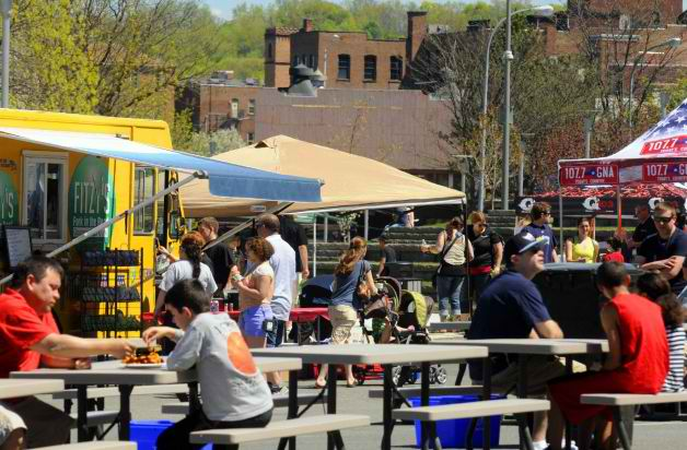 Troy, NY: Spring Sun Draws Crowds to Troy Food Truck Fest, Farmers Market