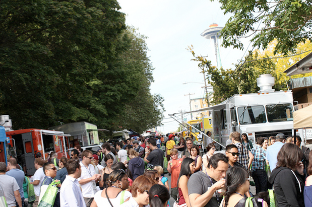 Technically this is the Mobile Food Rodeo. But you get the idea. Photo via Seattle Street Food Festival.