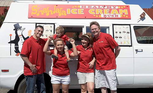 Courtesy Shahla Fadaie, an Indian Hills resident, recently purchased the Mr. Ice Cream truck and started her new firm called Shahlala Healthy Ice Cream Rush