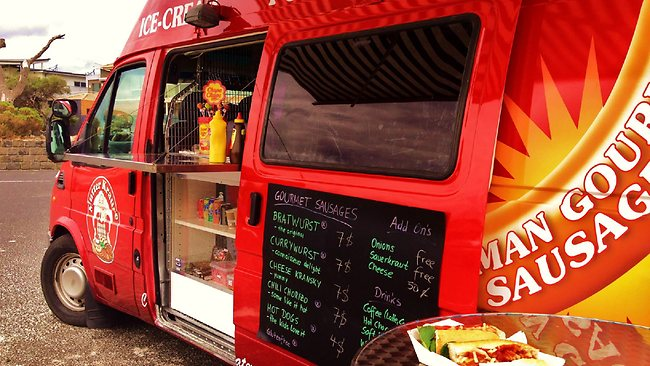 Mutter Krause, a food truck serving German sausage. Picture: supplied