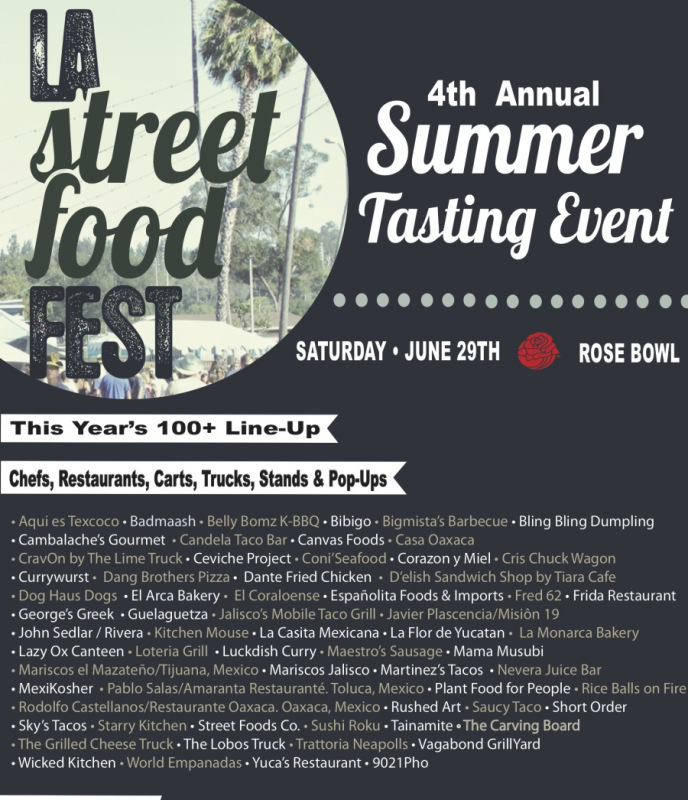 Pasadena, CA: Score A Discount To L.A. Street Food Fest, Returning To The Rose Bowl June 29