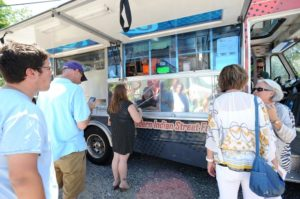 The Tikka Tikka Taco truck was at the Annapolis Yacht Club's Annex. Three competing trucks from Food Network's The Great Food Truck Race stopped in Annapolis Friday afternoon.
