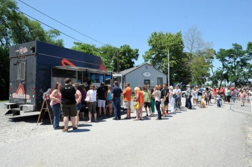 By Paul W. Gillespie, Staff Food Trucks The Tikka Tikka Taco truck was at the Annapolis Yacht Club's Annex. Three competing trucks from Food Network's The Great Food Truck Race stopped in Annapolis Friday afternoon.