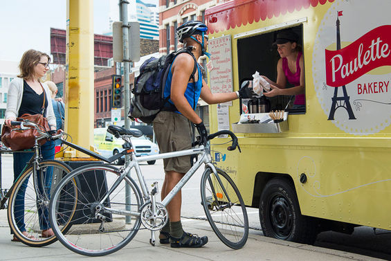 E. Katie Holm Paulette Bakery serves two-wheeled commuters