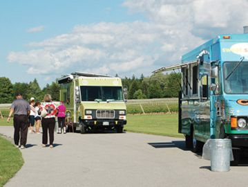 Patrons enjoy the offerings at the recent Food Truck Eats event. Region staff warned politicians this week that such trucks are not subject to mandatory fire inspections in all municipalities.