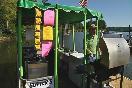 Monroe County, NY: Mobile Concession Stand Serving Food On Irondequoit Bay