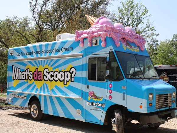 Dallas TX Whats Da Scoop Food Truck Brings A Different Kind Of