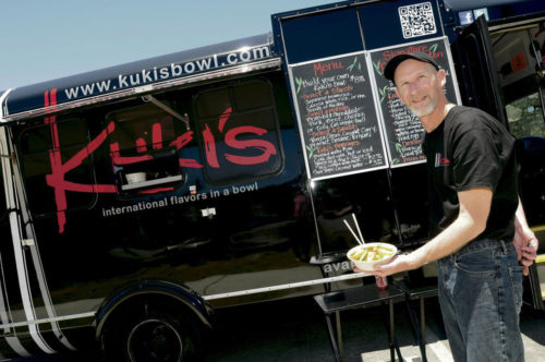Nic Coury Kuki's Gourmet Food Truck does accessible Asian on the move. Right Turn: Chef Mark Doton commuted to Kuki's from the Whole Foods kitchen, where he directed operations after time as a cook at Bernardus Lodge.