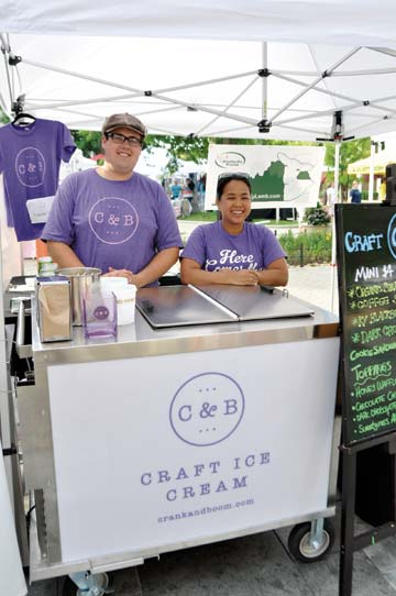 Toa Green, owner of the Thai Orchid Cafe restaurant, started a mobile food enterprise to serve her artisan ice cream streetside. -
