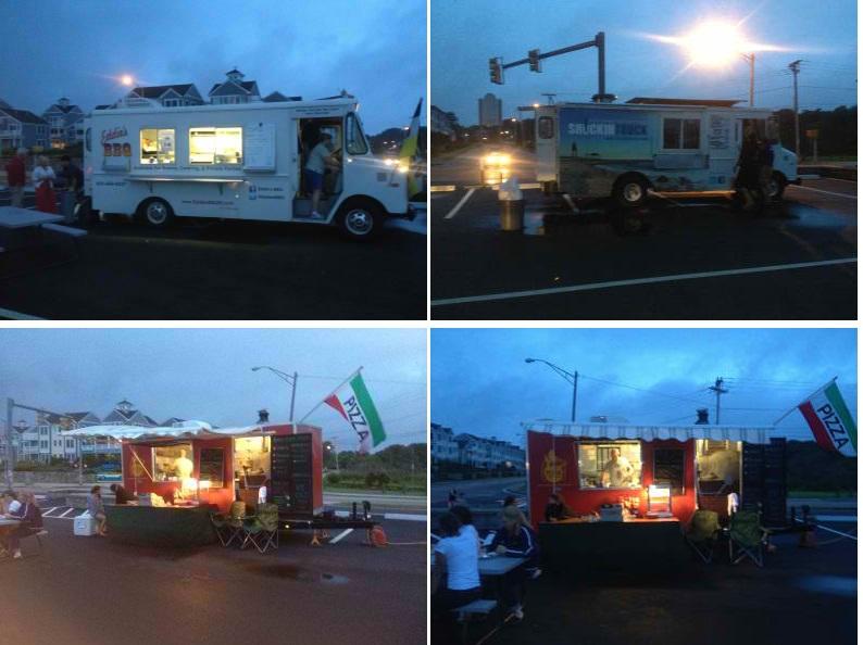 Narragansett, RI: Food Trucks Fight Weather for Sales at Narragansett Beach