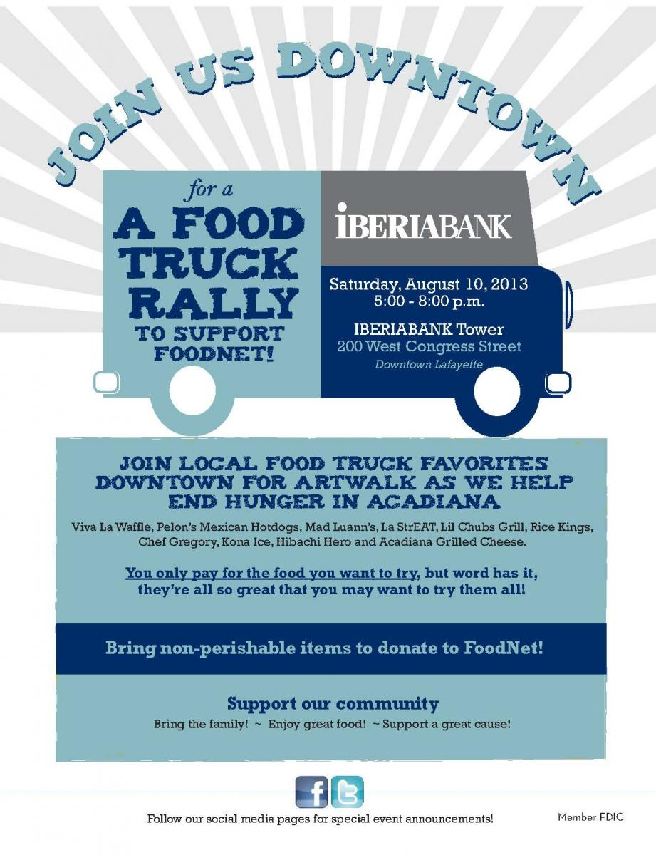 Lafayette, LA: IBERIABANK Hosts Second Food Truck Rally to Support FoodNet