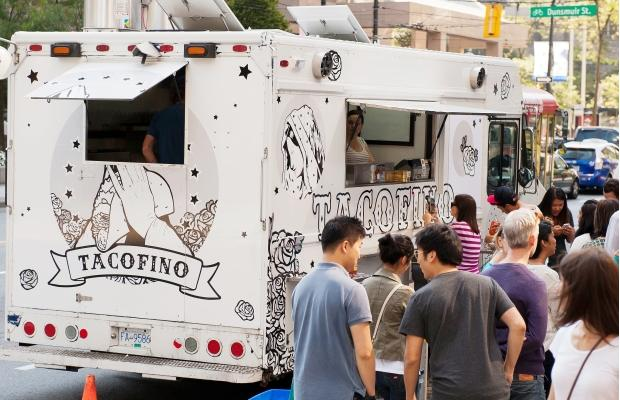 The final stop on the tour took the group to Tacofino's brand new food truck on Burrard Street for Chocolate Diablo cookies. Photograph by: RICHARD LAM, PNG