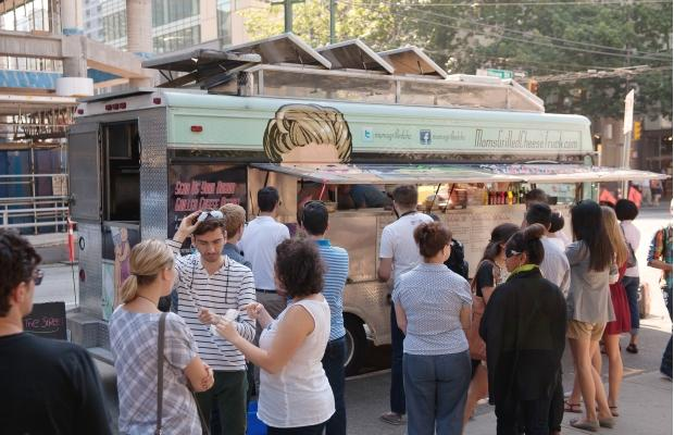 Mom's Grilled Cheese Truck during a stop on the World's Best Food Truck Tour. Photograph by: RICHARD LAM, PNG