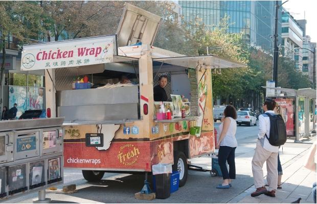 Chicken Wrap during a stop on the World's Best Food Truck Tour on the corner of Smithe and Burrard. Photograph by: RICHARD LAM, PNG
