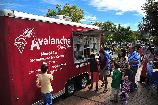 Birmingham, AL: Feast on Food Truck Fare at Trucks by the Tracks in Birmingham's Railroad Park
