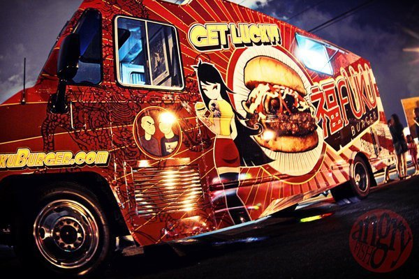 Oakland, CA: The Fukuburger food truck and the Redskins