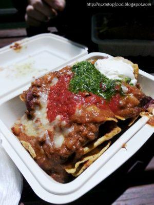 Organic Nachos (wagyu chilli con carne, cheese, tomato and chimmichurri) $12