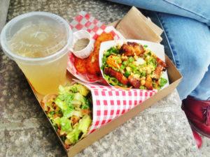 Duck Cone Salad & Crispy Pork Belly Salad
