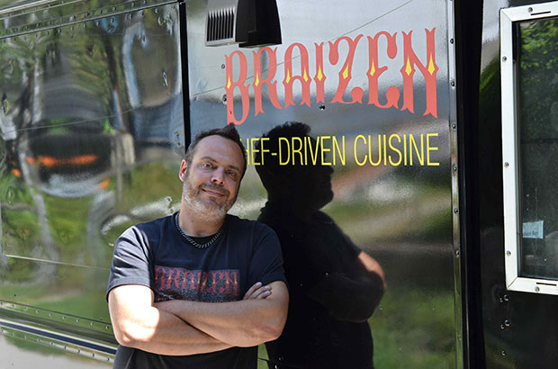 Braizen food truck Chef Steve Glavivich knows you need to be a jack of all trades to run a food truck Photograph by: Dan Clapson , Swerve