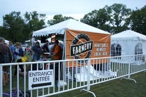 Local Farmery beer kiosk at the Wine & Beer Festival. (EDEN RAMSAY PHOTO)