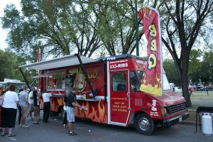 Lovey's BBQ food truck was a popular spot in the first annual Food Truck Wars at ManyFest. (EDEN RAMSAY PHOTO)