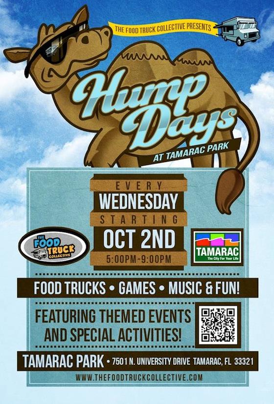 Tamarac, FL: Hump Days at Tamarac Park with The Food Truck Collective – October 23rd