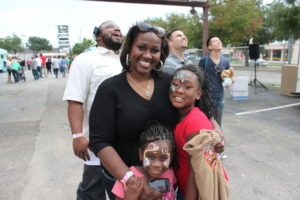 Image: Diamond Posey Tresha Lovelady brought her daughters, Indy and Icy.