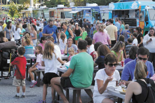 Throngs of people have enjoyed Brookhaven's 'Food Truck Roundup' on Wednesdays at Blackburn Park.