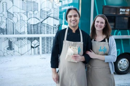 Nevin and Kara Fenske are hoping to add to their food truck business with a new cart funded through an online competition.