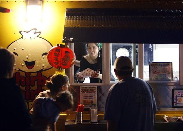 The Chirba Chirba dumpling truck is doing a pop up restaurant for one night only. TRAVIS LONG