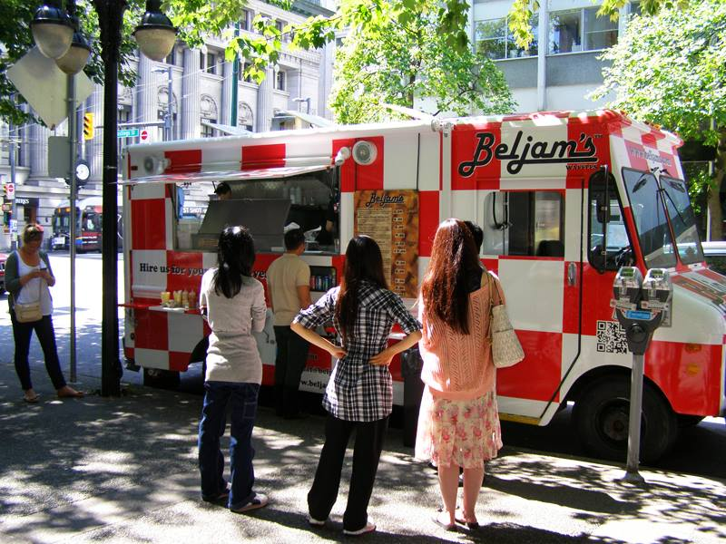 Vancouver, CAN:  Beljam's Waffles Food Truck to serve breakfast at Strathcona Elementary
