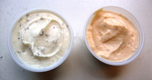 Rosemary Garlic and Parmesan Peppercorn sauces (credit: NYSF)