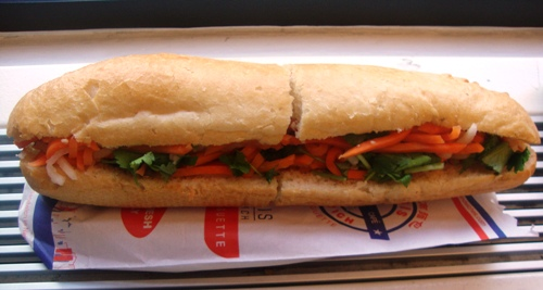 New York, NY: Stir-Fried Lemongrass Tofu Banh Mi from Paris Sandwich Shop