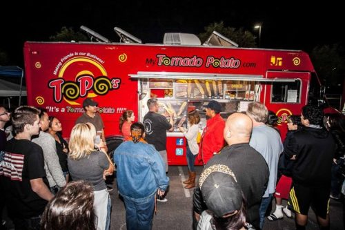 Orange County's Tornado Potato food truck, seen here at the 2013 Foodie Fest, is returning to Las Vegas this weekend for the Foodie Fest. (SARVIC Studios)