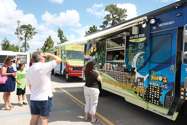 Tampa, FL: Wharton Hosts Successful First Food Truck Rally