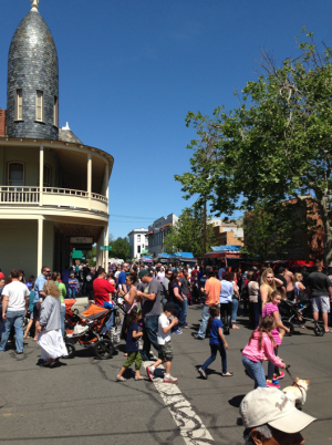 Thousands of people descended upon Woodland s downtown for the second month as Woodland s First Sunday Food Truck Mania event saw 13 food trucks five more than in March. (Jim Smith-Democrat)