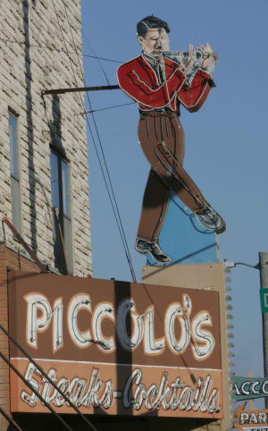The sign outside Piccolo's Steak House at 2020 South 20th St.