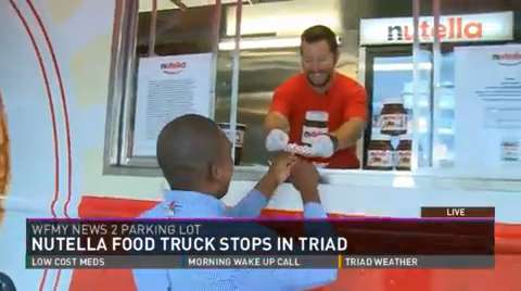 Greensboro, NC: Nutella Truck Tour Makes Stop At Tunes At Noon