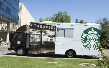 Starbucks goes mobile.