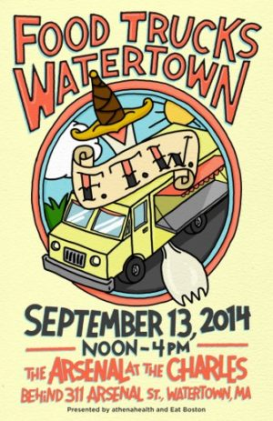 Poster for Food Truck Watertown event.