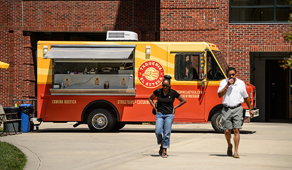 Greensboro, NC: Enjoy 'Food Truck Hub' near McIver Deck