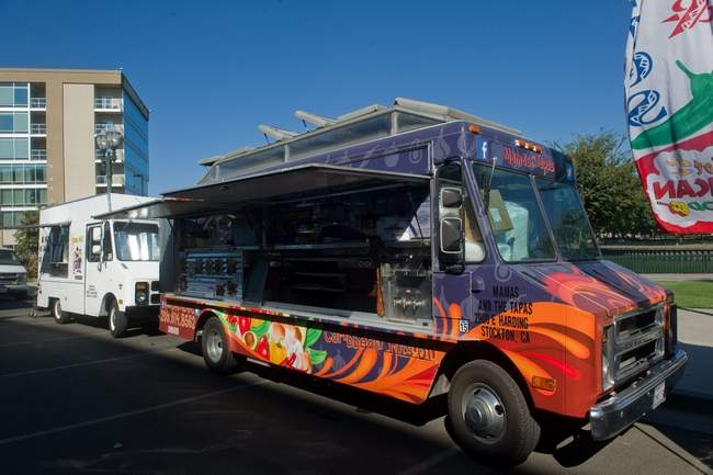 The Mamas and the Tapas van at the Food Truck Frenzy event outside of the Stockton Arena in downtown Stockton. Clifford Oto/The Record
