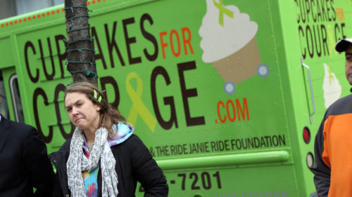 Laura Pekarik, owner of Cupcakes for Courage, who is suing the city of Chicago over its food truck rules. (Heather Charles, Chicago Tribune)