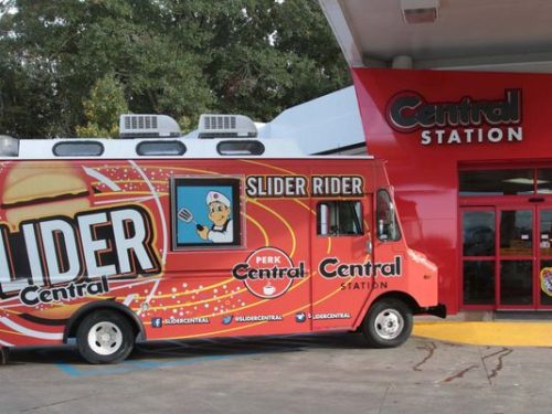 The Slider Rider vehicle parks outside the company's home of operations in West Monroe. (Photo: MARGARET CROFT/THE NEWS-STAR )