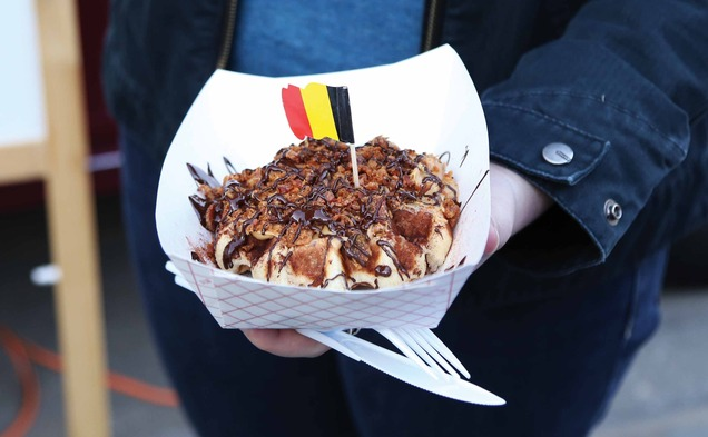 Durham, NC: Waffle Truck Pitches Belgian Tastes to DUSDAC